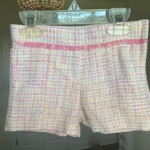 Janie & Jack pink slub shorts
